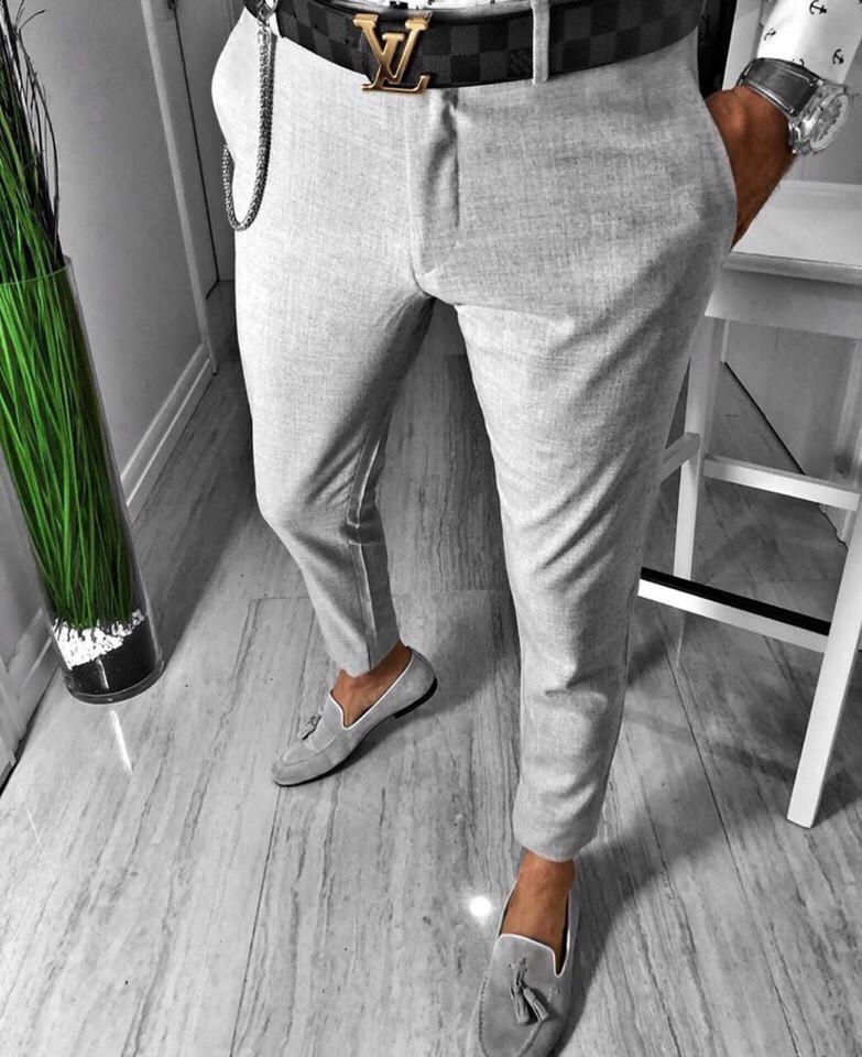 "Мужские штаныбез бренда ""Gray"""