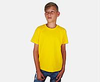 Детская Классическая Футболка для Мальчиков Солнечно-жёлтая Fruit of the loom 61-033-34 7-8, фото 1
