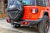 Силовой задний бампер с красными вставками Jeep Wrangler JL, фото 10