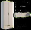 Шкаф платяной 800 Маттео 2Д 1Ш