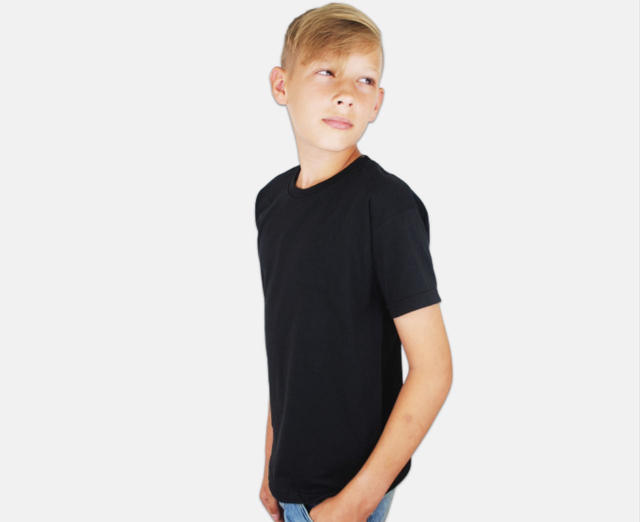 Детская Классическая Футболка для Мальчиков Чёрная Fruit of the loom 61-033-36 2-3