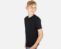 Детская Классическая Футболка для Мальчиков Чёрная Fruit of the loom 61-033-36 2-3, фото 1