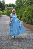 Платье джинсовое для беременных и кормящих мам HIGH HEELS MOM синий