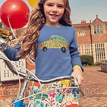 Платье для девочки Золотой автомобиль Little Maven (5 лет), фото 2