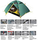 Палатка Colibri Tramp ТРТ - 013.04, фото 2
