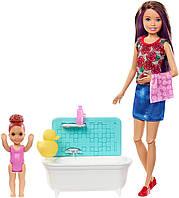"Набор Барби Скиппер няня ""Ванная комната"" (FXH05) Barbie Skipper Babysitters Inc. Bathtime Playset, фото 1"