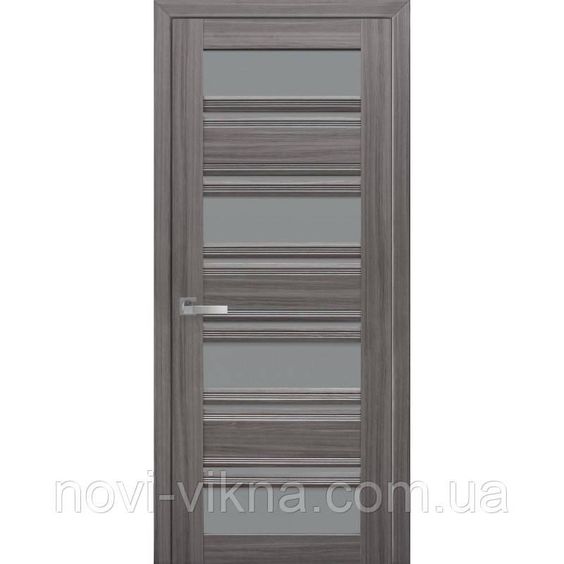 Межкомнатное полотно Венеция С2 жемчуг графит 700 мм со стеклом GR (графит).
