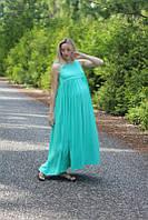 Сарафан длинный для беременных и кормящих мам HIGH HEELS MOM, зелёный
