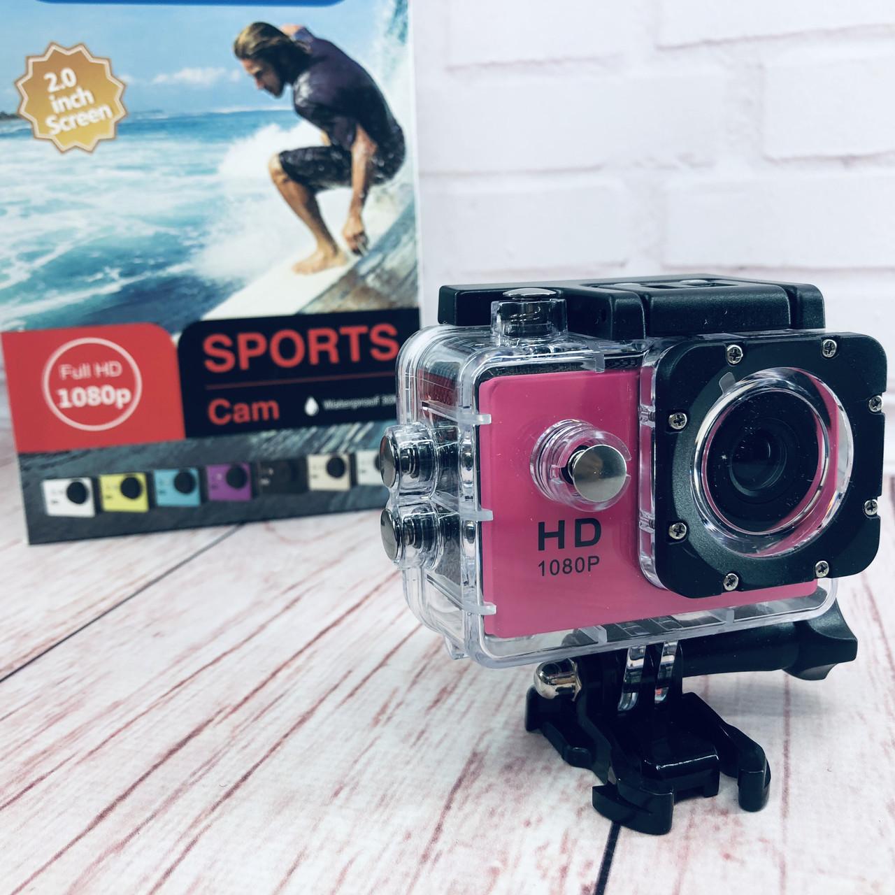 Экшн-камера А7 Sports Full HD 1080P (цвет розовый)