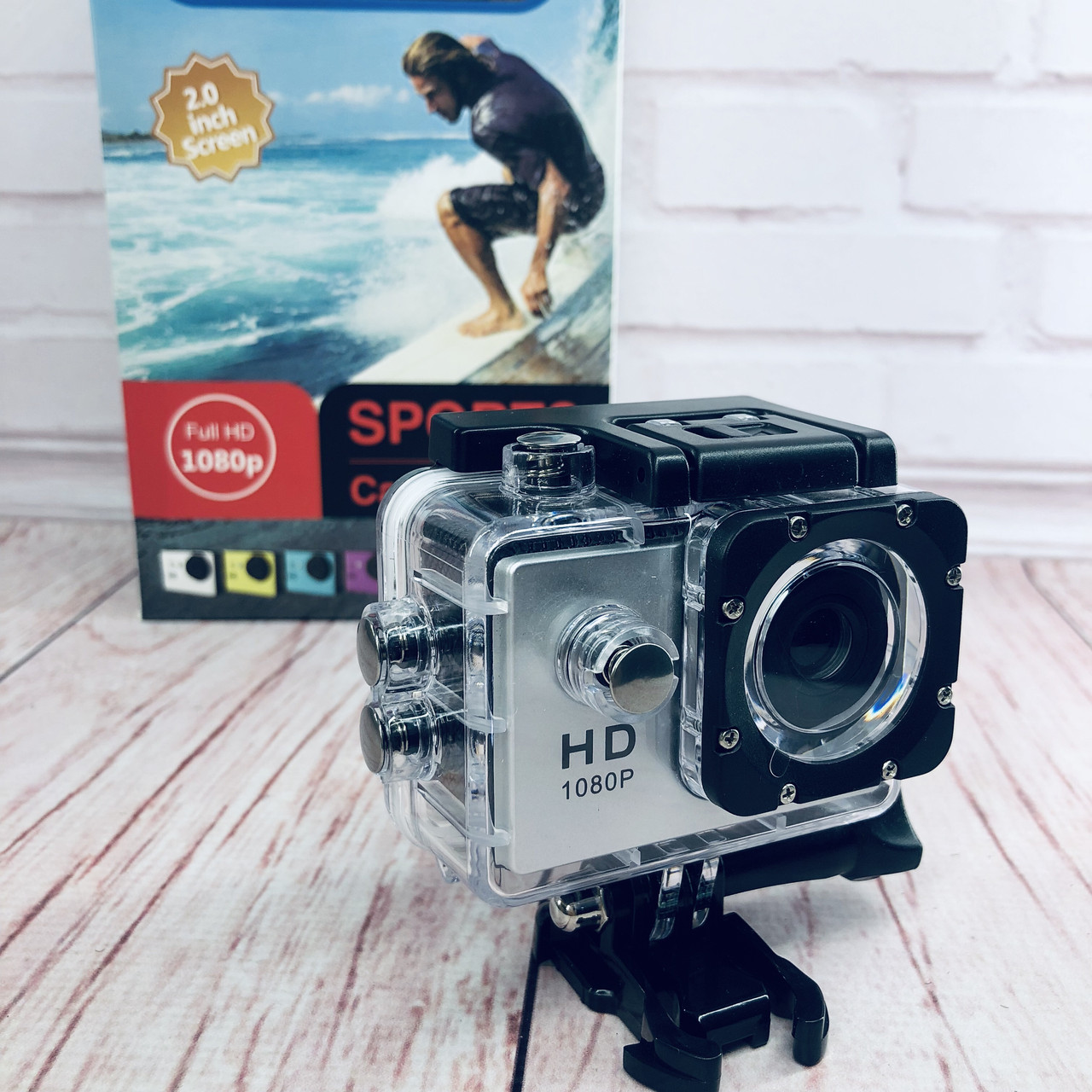 Экшн-камера А7 Sports Full HD 1080P (цвет серебро)