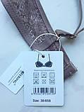 Бюстгальтер кружевной женский. Лифчик с кружевом без косточек, размер 80 B (коричневый), фото 10