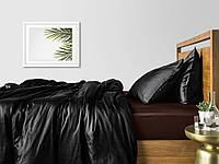 Комплект полуторного постельного белья сатин BLACK CHOCOLATE-S