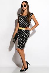 Платье женское 120P099-2 (Черно-желтый)