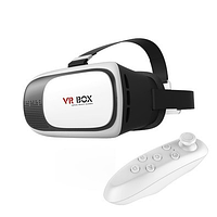 Шлем 3D VR BOX+ПУЛЬТ В ПОДАРОК! Очки Виртуальной реальности VR BOX 2.0 V2 ВР 3Д