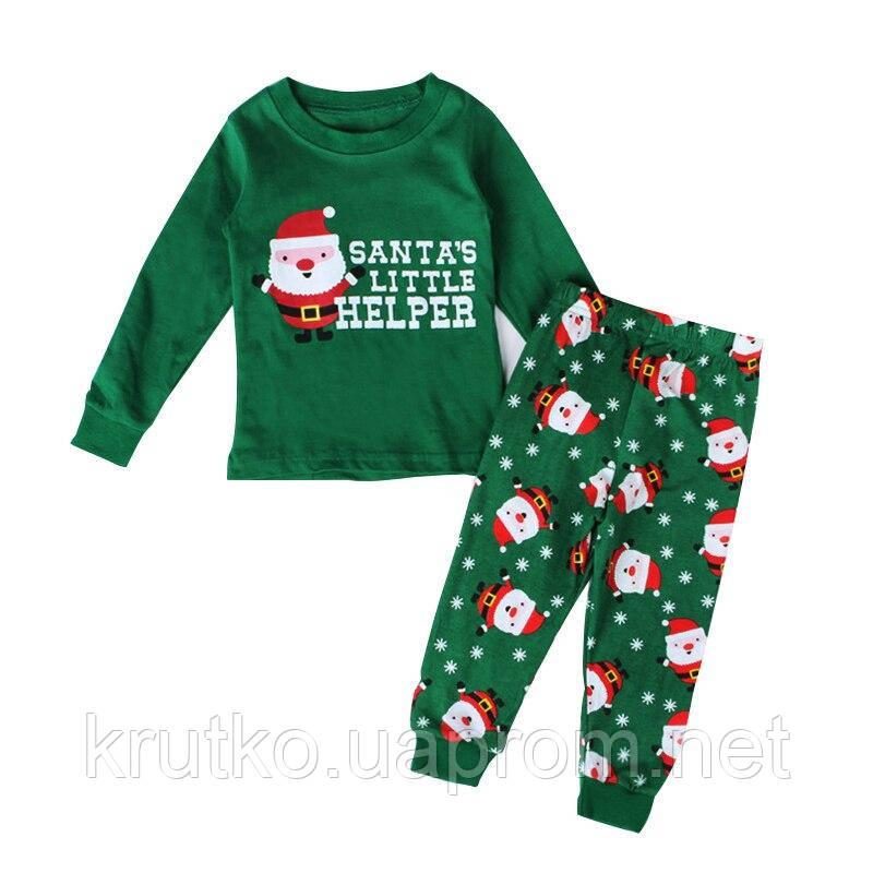 Пижама Санта-Клаус, зеленый Baobaby (100)