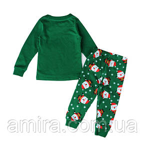 Пижама Санта-Клаус, зеленый Baobaby (100), фото 2
