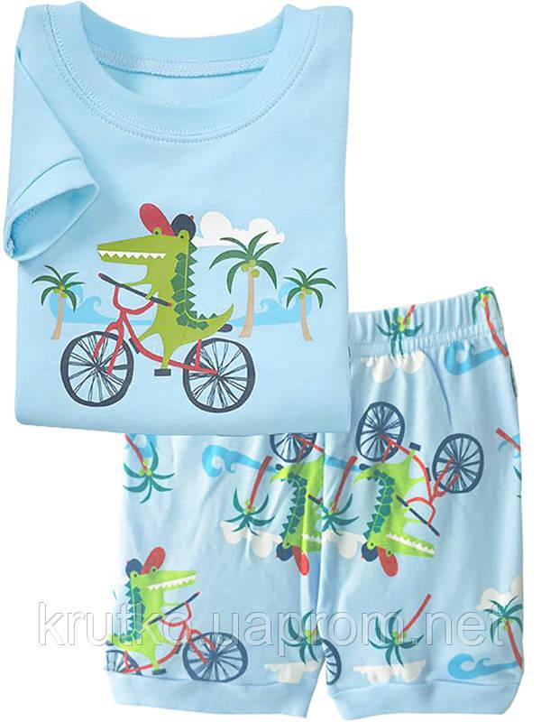 Пижама Крокодил на велосипеде Baobaby