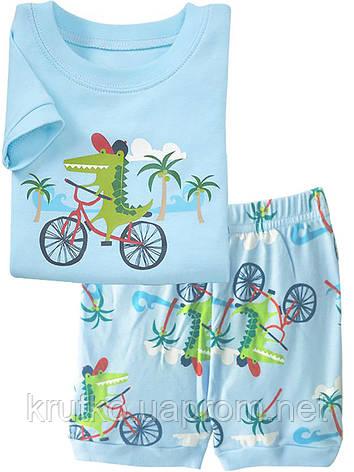 Пижама Крокодил на велосипеде Baobaby, фото 2