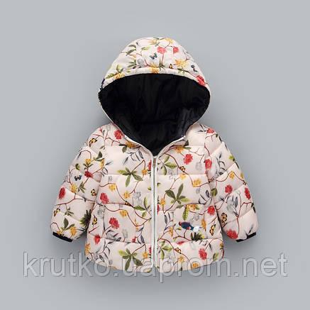 Демисезонная куртка для девочки Райский сад Berni, фото 2
