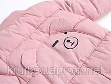 Утепленный демисезонный комбинезон для девочки Медвеженок, розовый Berni, фото 3
