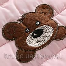 Демисезонный комбинезон для девочки Тедди, розовый Berni, фото 2