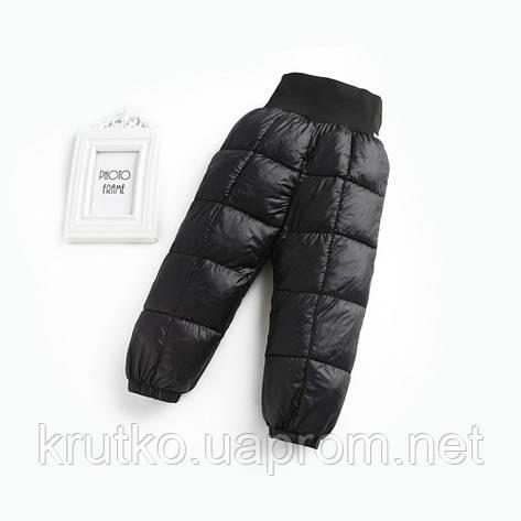 Демисезонные штаны для мальчика, черный Berni, фото 2