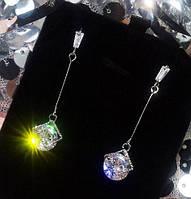 Стильные серьги с яркими кристаллами, фото 1