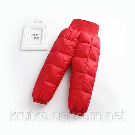 Детские демисезонные штаны, красный Berni, фото 2