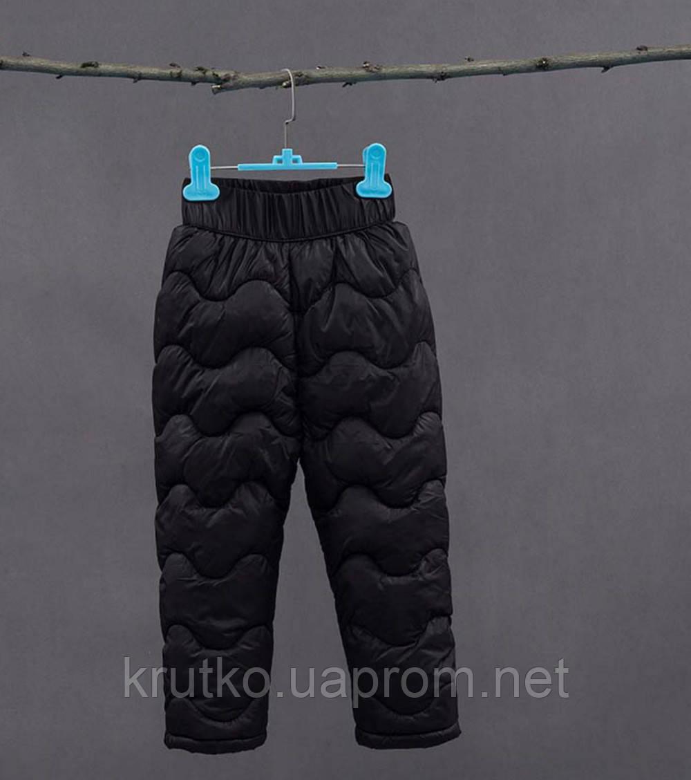 Утепленные штаны для мальчика, черный Berni