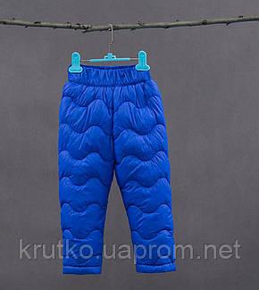 Утепленные штаны для мальчика, синий Berni, фото 2