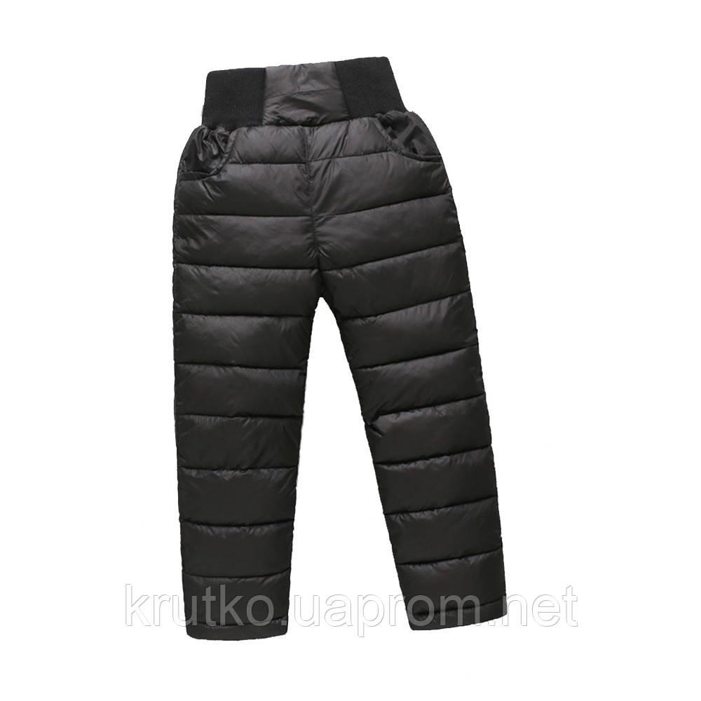 Демисезонные штаны для мальчика Полоска, черный Berni