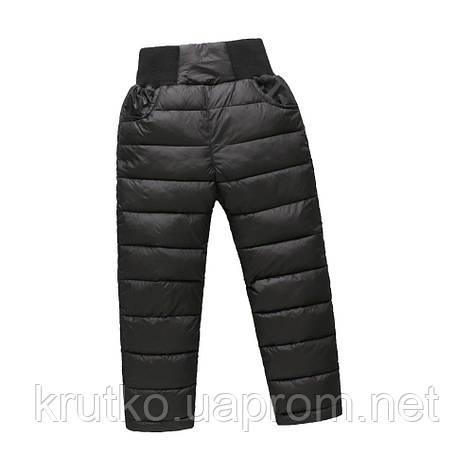 Демисезонные штаны для мальчика Полоска, черный Berni, фото 2