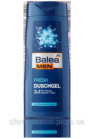 Гель для душа Balea Men Bath 3 в 1 FRESH, 300 мл