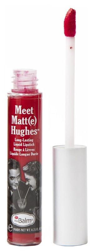 Рідка матова помада theBalm Meet Matte Hughes, Devoted Bright Red, 7.4 мл