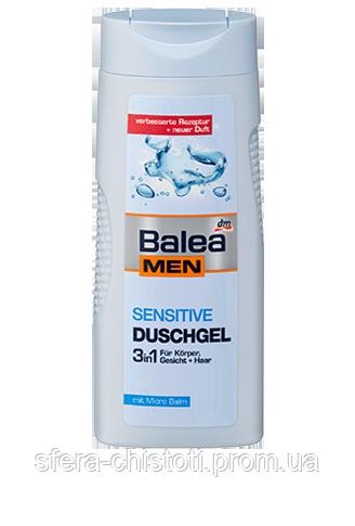 Гель для душа Balea Men Bath 3 в 1 SENSITIVE, 300 мл