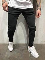Мужские джинсы черного цвета узкие