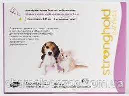 Стронхолд капли для щенков ( до 2,5 кг) 1 пипетка