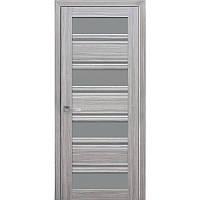 Дверь межкомнатная Венеция С2 жемчуг серебряный 700 мм со стеклом GR (графит).
