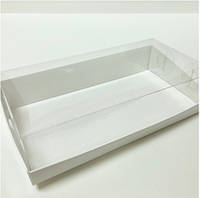 Прямоугольная коробка с пластиковой крышкой, 200х100х50 мм, белая, фото 1