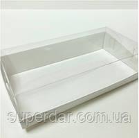 Прямокутна коробка з пластиковою кришкою, 200х100х50 мм, біла