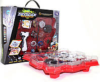 Подарочный игровой набор БейБлэйд BeyBlade(Бей блейд) с ареной, 4 случайных блейда