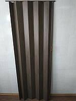 Дверь ширма гармошка орех 820х2030х0,6 мм раздвижная межкомнатная пластиковая глухая