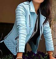 Очень красивая кожаная женская курточка косуха