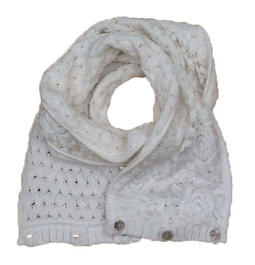 Дитячий шарф для дівчинки Pezzo D'oro Італія S06 K63006 білий весняна осіння демісезонна