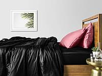 Комплект полуторного постельного белья сатин BLACK PUDRA-P