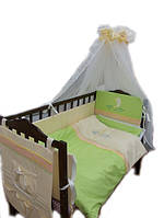 """Детский постельный комплект 8 ел. """"Дельфин""""  8 элементов с вышивкой, фото 1"""
