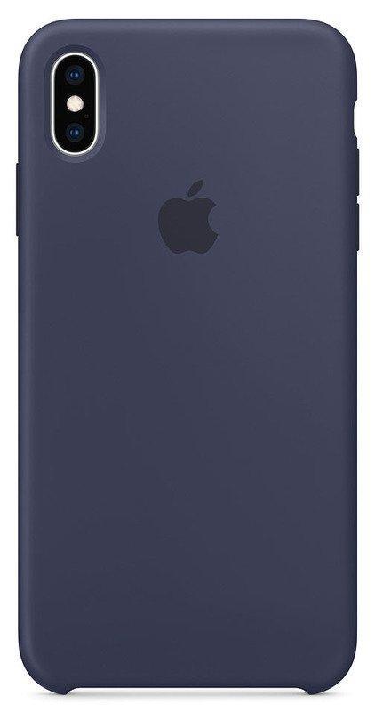 Чехол Silicone Case Apple iPhone Xs Max (Midnight Blue)