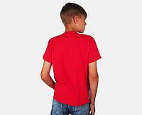 Детская Классическая Футболка для Мальчиков Красная Fruit of the loom 61-033-40 1-2