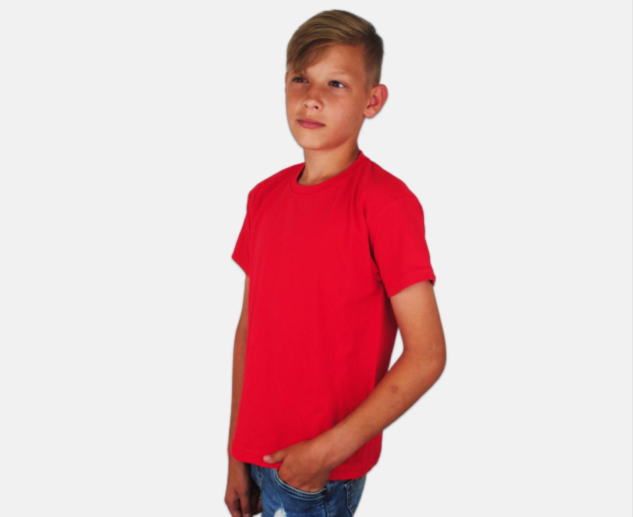 Детская Классическая Футболка для Мальчиков Красная Fruit of the loom 61-033-40 7-8