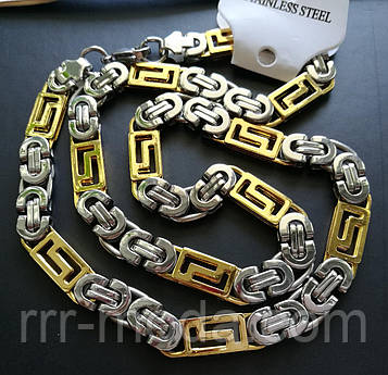 156 Мужская плоская цепь оптом, позолоченные украшения, цепочки оптом в Украине.